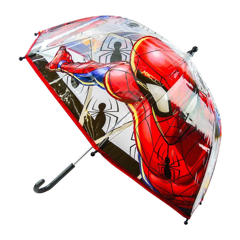 Chanos Marvel Manual Dome Shape Poe Transparent Folding Umbrella, 45 cm, Red Chanos_94941