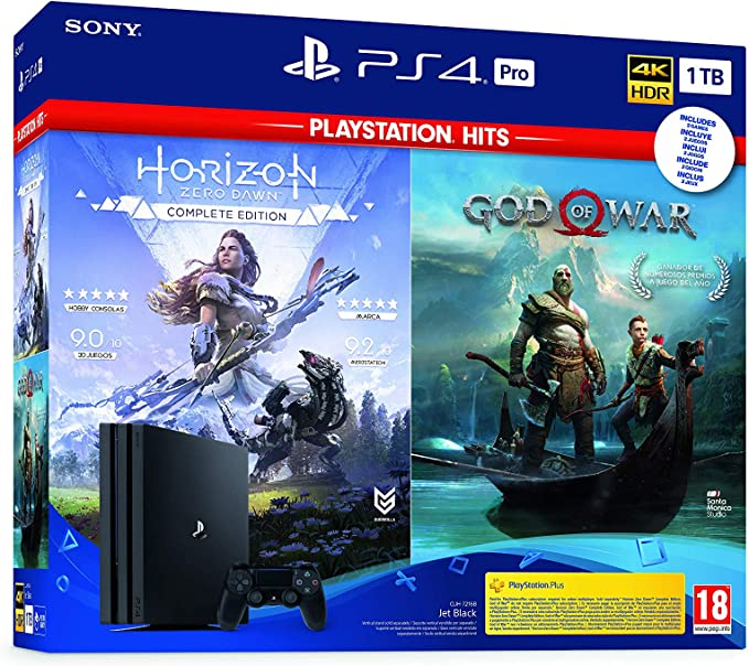 Sony PlayStation 4 - PS4 Pro 1TB + GOW + Horizon: Sony: Amazon.es: Videojuegos