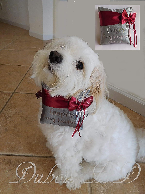 Amazon Personalized Dog Ring Bearer Pillow Wedding Handmade: Wedding Ring Barrier Dogs At Websimilar.org
