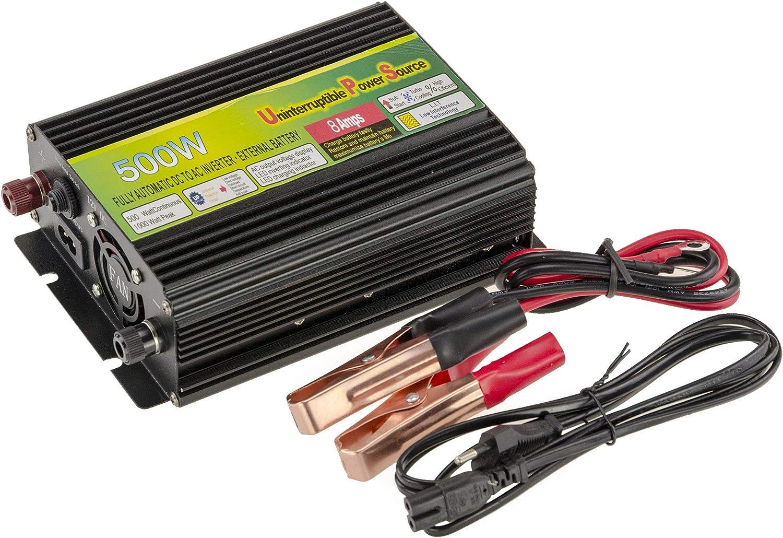 Convertidor Inversor de voltaje 12V en 220V (inversor AC–DC)–Potencia 500Watts–función UPS: alimentación Continue (Uninterruptible Power Source)