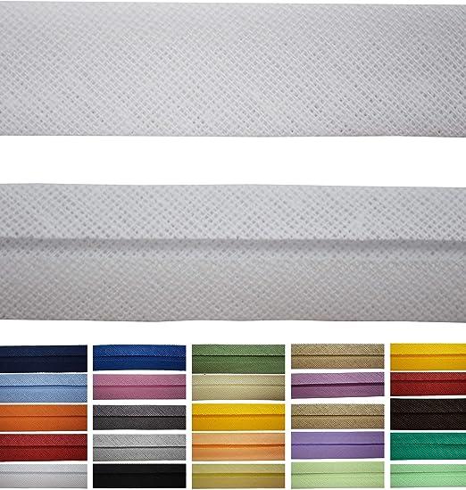 Disponible en 24 Colores 9 mm de Ancho Cinta al bies de algod/ón Roban Fashion