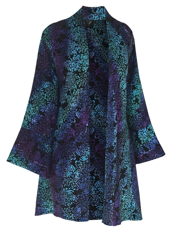 2X, 3X or 4X PLUS SIZE Kimono   Handmade Kimono Style   Women Tunic Cardigan Jacket, Custom Order Dressy Jacket for Full Figures