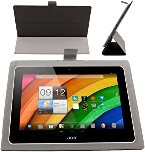DURAGADGET Dark Grey Flexible & Ultra-Thin Folding Folio Case For Acer Iconia A3-A10 Tablette Tactile 10,1""