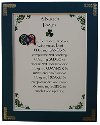 A NURSES PRAYER Matted Calligraphy