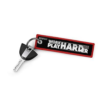 KEYTAILS Keychains, Premium Quality Key Tag for Snowmobile, Sled [Work Hard Play Harder]: Automotive
