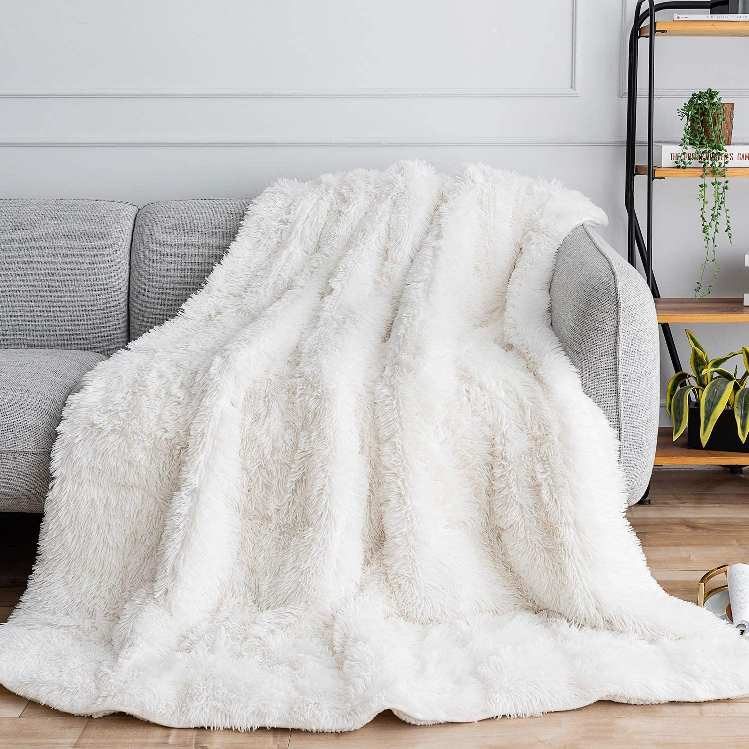 white fuzzy throw christmas gift for women