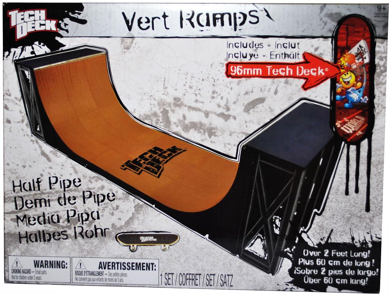 amazon com tech deck finger skateboard ramp set vert ramps half