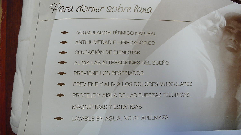 COLCHÓN DE Lana 100%, CUBRECOLCHÓN ANTIESCARAS, Topper Sistema DE Descanso Tradicional Bienestar del SUEÑO (Lana 500 GR + Algodon, Cuna 60 X 120 CM): ...