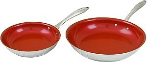 Tuxton Home Concentrix Nonstick Color Frypans, 8