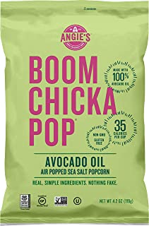 product image for Angie's BOOMCHICKAPOP Sea Salt Air-Popped Popcorn, 4.2 oz. (Pack of 12)