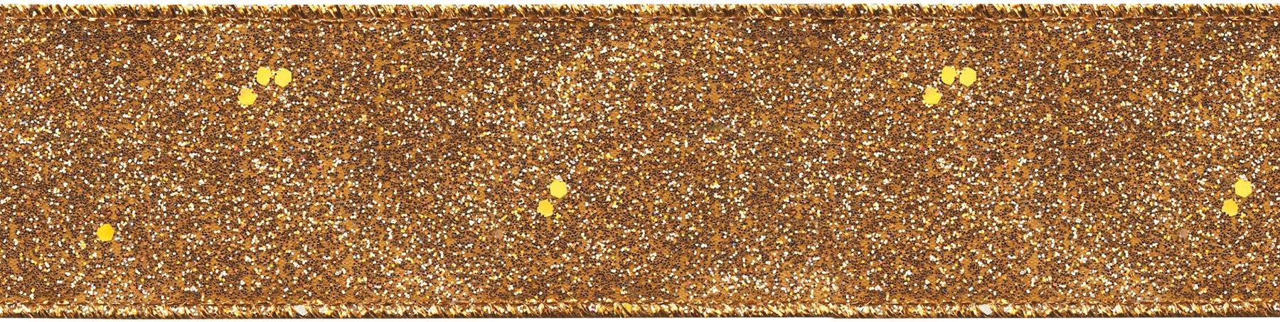 Offray Glitterie Ribbon, 1.5-Inch, Copper