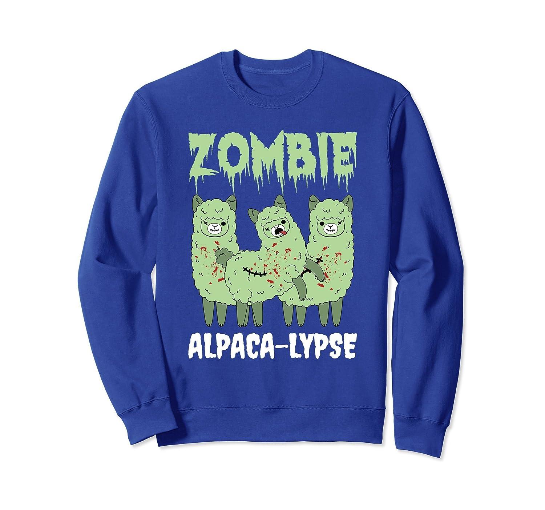 Zombie Alpaca-Lypse Dead Animal Funny Sweatshirt-mt