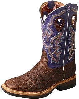bf3b7ba5dd9 Amazon.com: Twisted X Women's Lite Cowboy Caiman Print Western Work ...