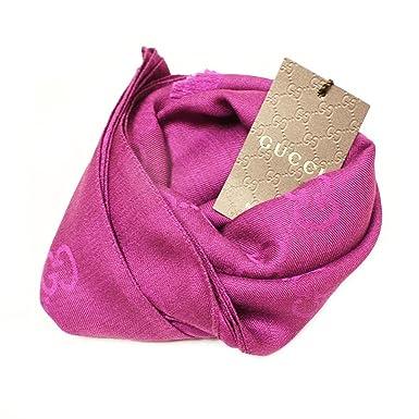 GG wool silk scarf - Pink & Purple Gucci 5T8nJ