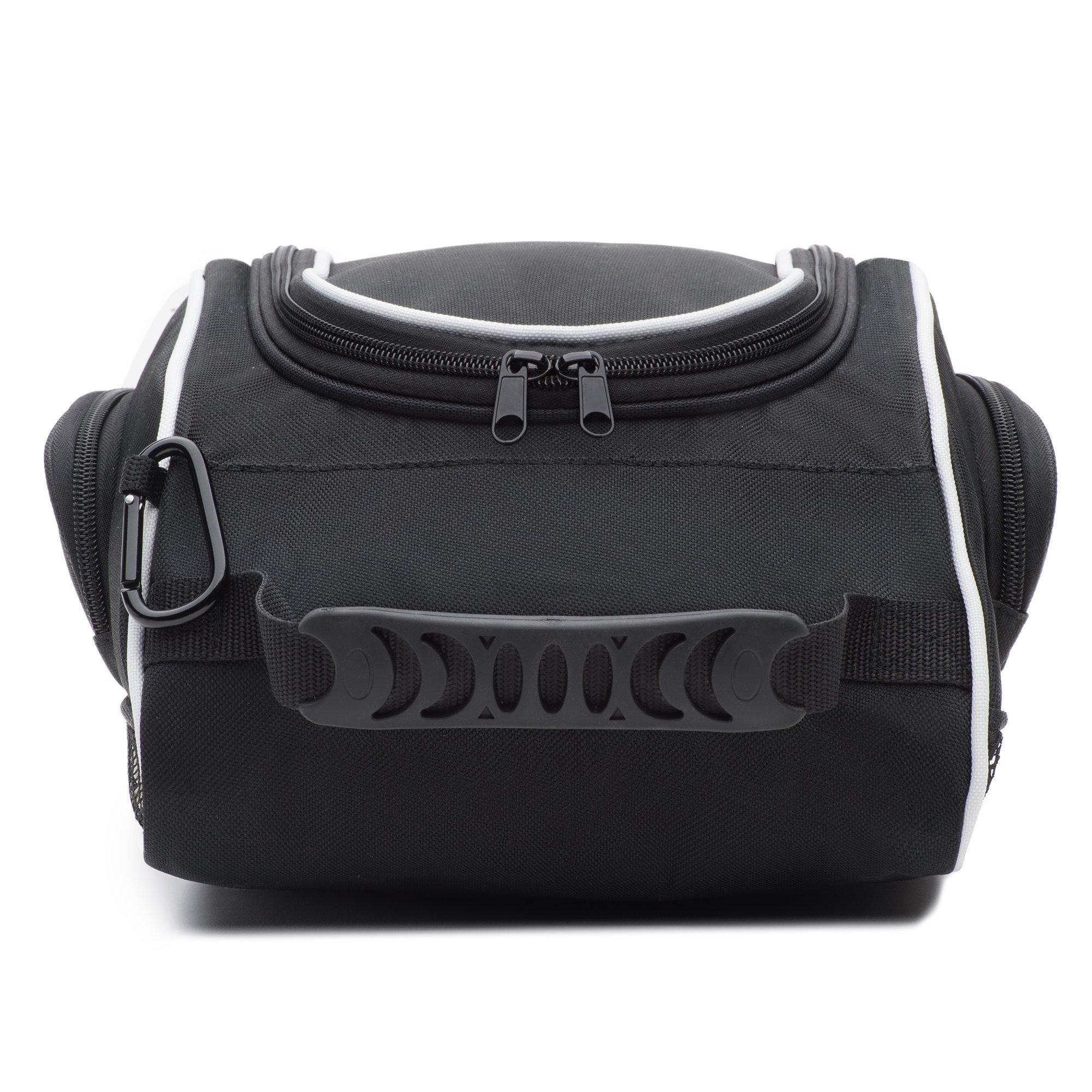 DesignWorks Golf Shoe Bag Tote for Men and Women, Hanging Clip and Large Zippered Side-Pockets, includes Golf Accessories Bonus by DesignWorks (Image #5)