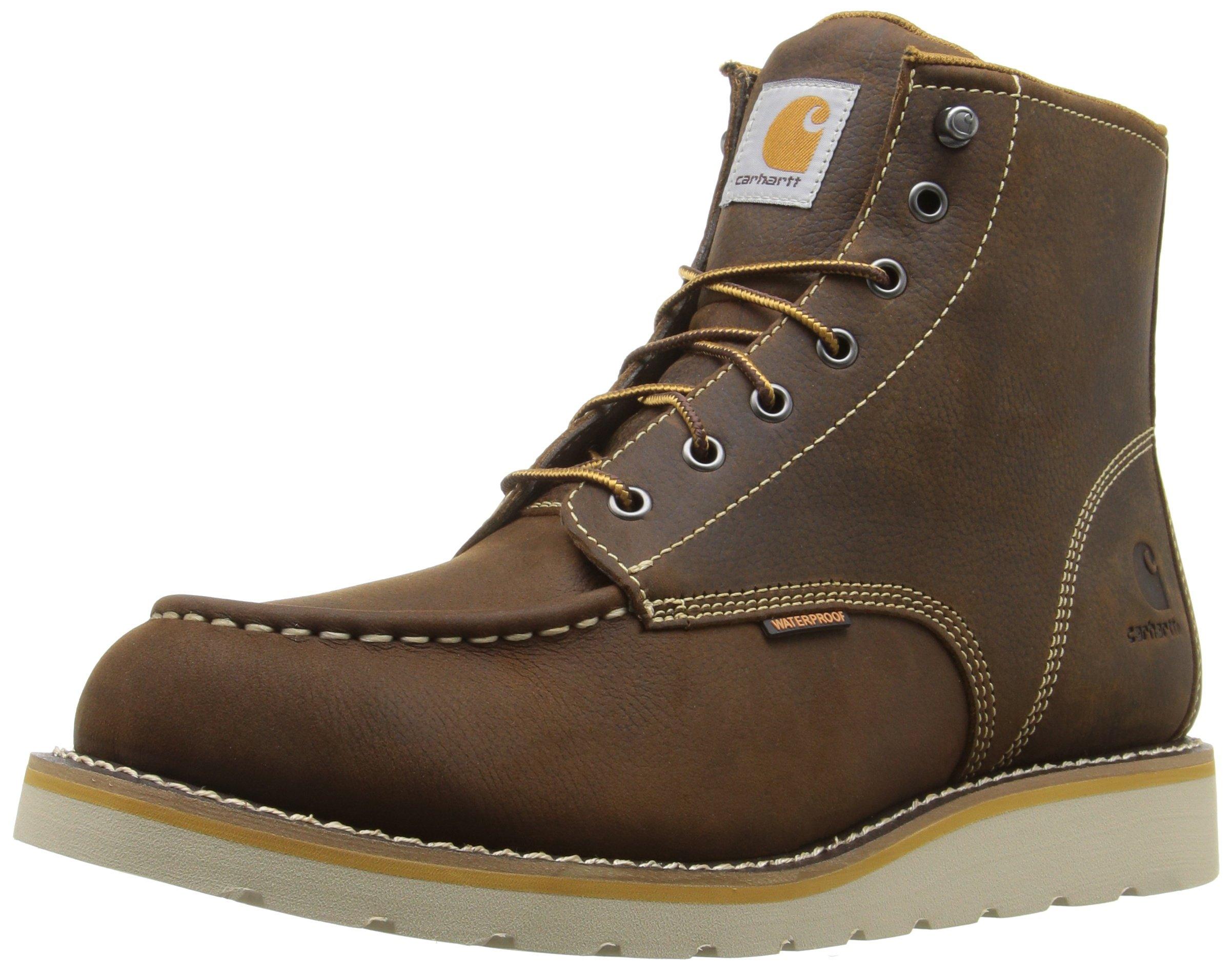 Carhartt Men's CMW6095 6'' Moc Toe Casual Wedge Work Boot, Brown, 10 M US by Carhartt