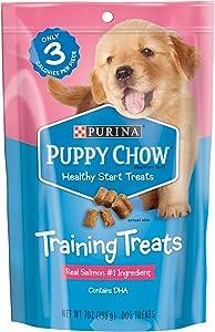 Purina Puppy Chow Training Treats, Healthy Start Salmon Treats - (5) 7 oz. Pouches
