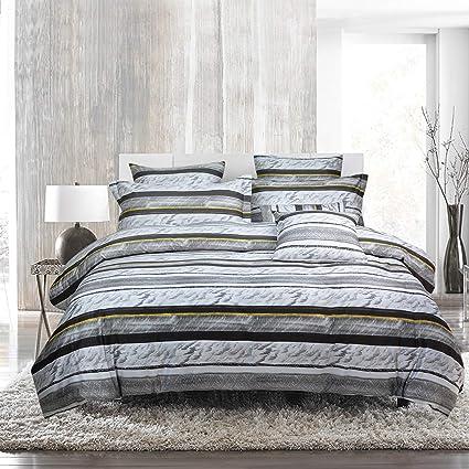 Amazon Com Softta Duvet Cover Black And White Striped Bedding Twin