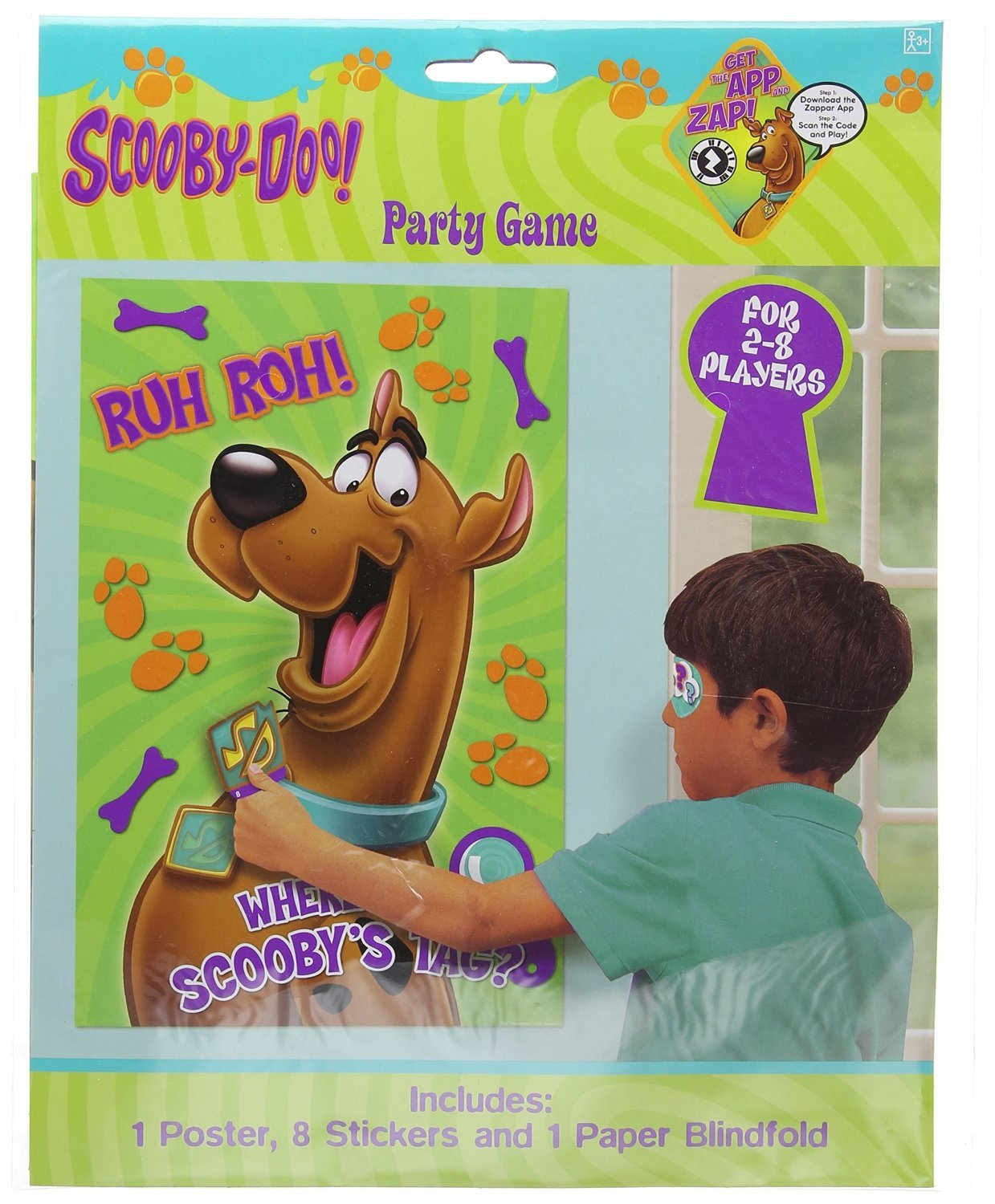 Amscan Awesome Scooby-Doo Party Game Birthday Party Supply, 37-1/2 x 24-1/2'', Teal/Purple/Green