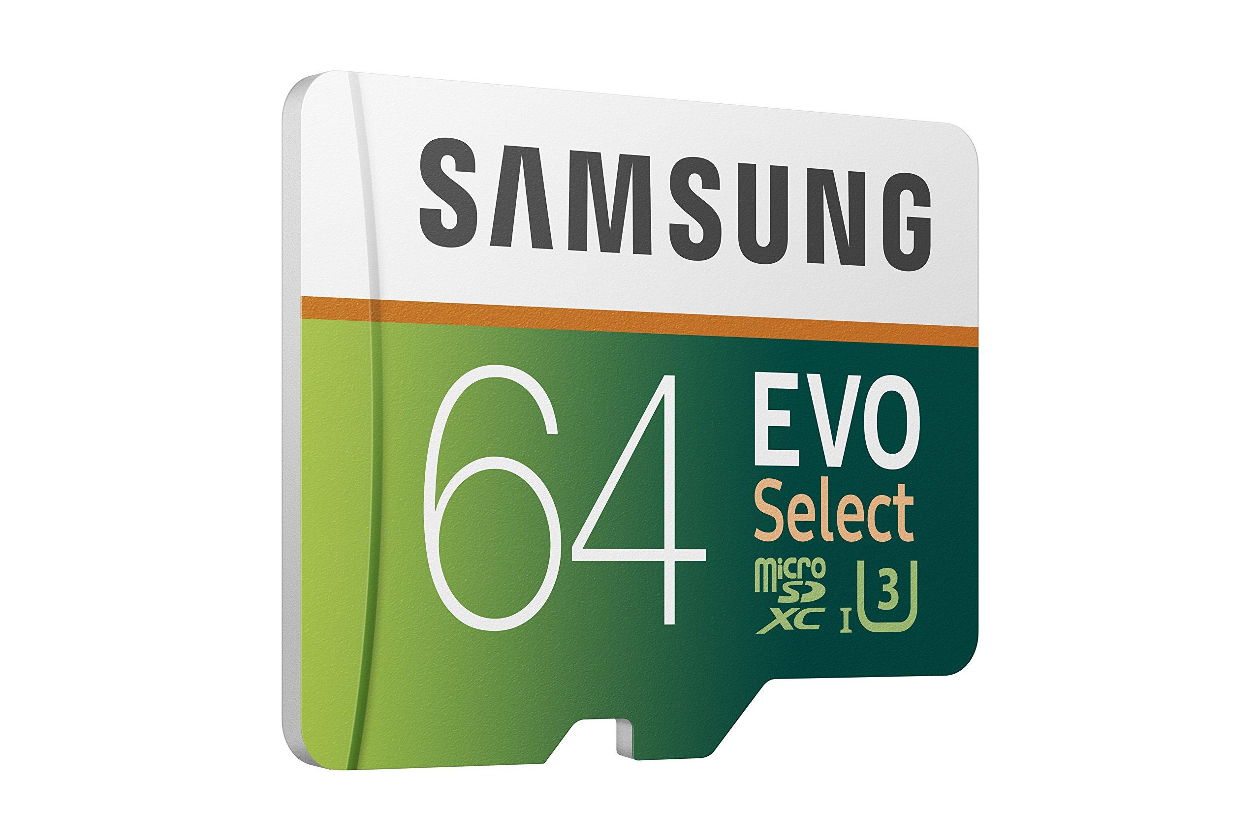 Samsung 64GB 100MB/s (U3) MicroSDXC EVO Select Memory Card with Adapter (MB-ME64GA/AM) by Samsung (Image #4)