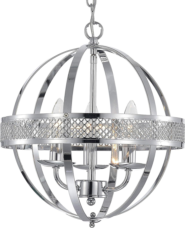MO OK chandelier industrial globe chandeliers lights 3-light Chrome lighting fixture