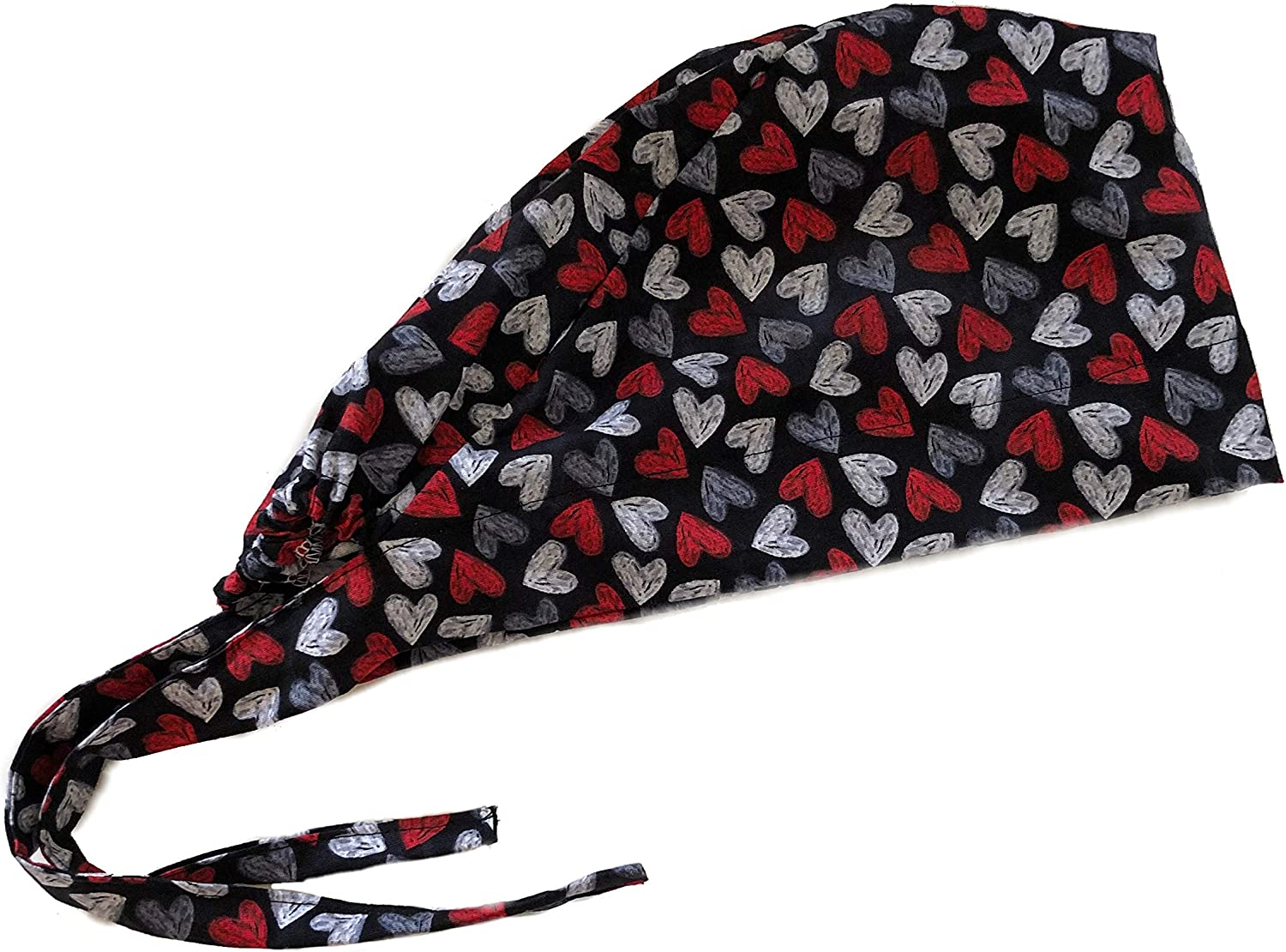 Womens Front Fold Tie Back Scrub Cap Surgical Cap Cute Patterns