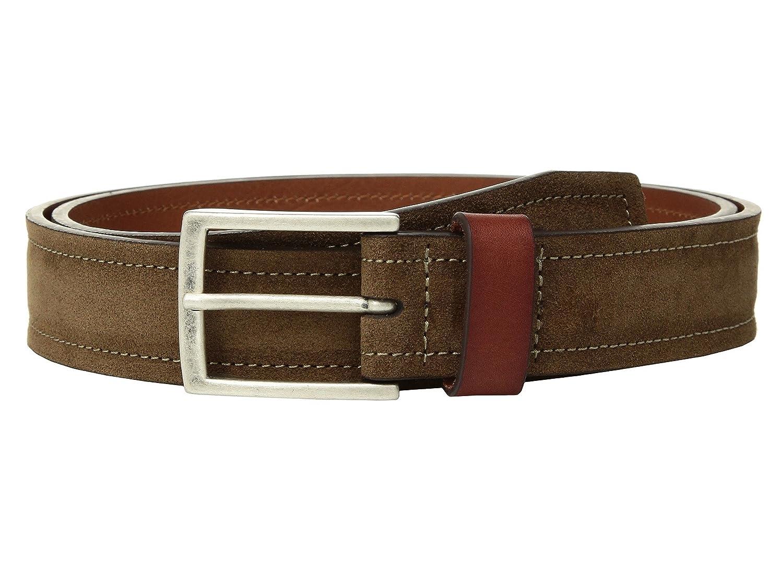 Johnston /& Murphy Mens Suede /& Leather Loop Belt Brown 42