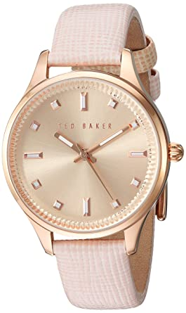 1b078cfdc Image Unavailable. Image not available for. Color  Ted Baker Women s Dress  Sport Stainless Steel Japanese-Quartz Watch with Leather Strap ...