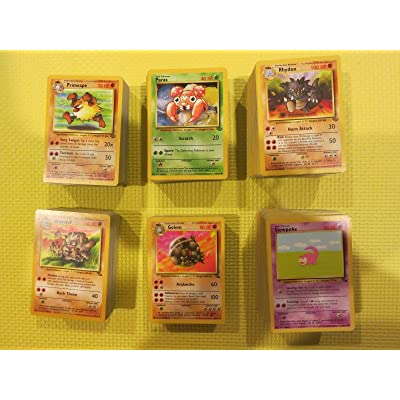 Lot 40 Pokemon GO TCG:1st Gen Cards Base Jungle Fossil Team Rocket Card Common and Uncommon! Hot Seller Items: Toys & Games