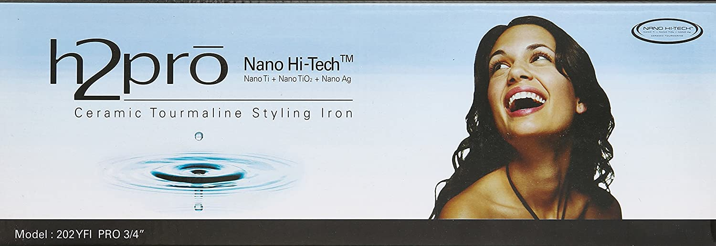 H2pro Professional Ceramic Tourmaline Styling Flat Iron