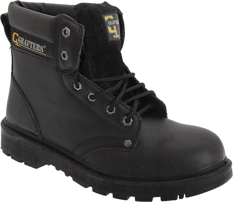 Noir Grafters UK Mens Size 10 noir Chaussures de s/écurit/é pour homme