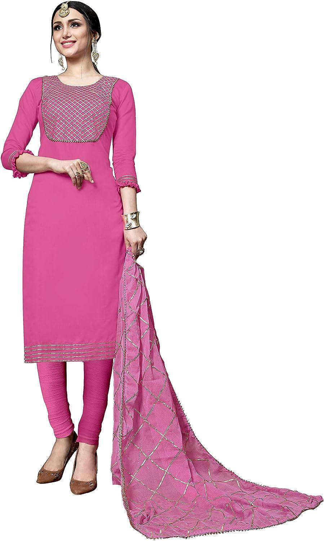 Women Girls Designer WHITE Cotton Salwar Kameez India Pakistani Unstitched Suit