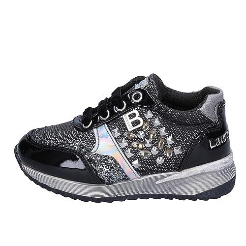 Laura Biagiotti Sneaker Bambina Pelle Argento  Amazon.it  Scarpe e borse 58c52faa062