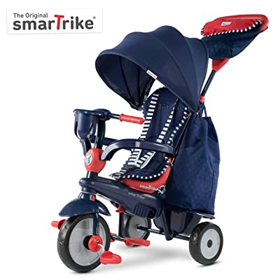 smarTrike Swirl Toddler Tricycle for 1,2,3 Year Olds - 4 in 1 Multi-Stage Trike, Navy: Toys & Games