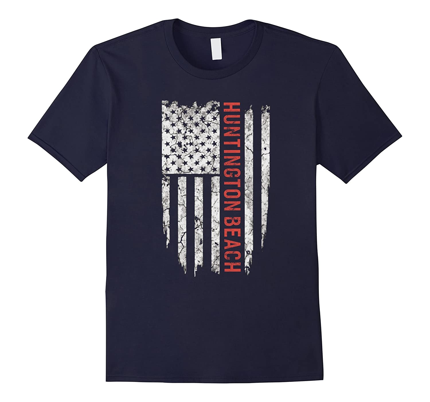 American City State Huntington Beach T-shirt Proud USA Tee-BN