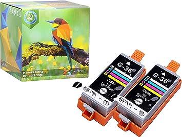 Amazon.com: HERO 2 Color Cartuchos de tinta para CLI-36 ...