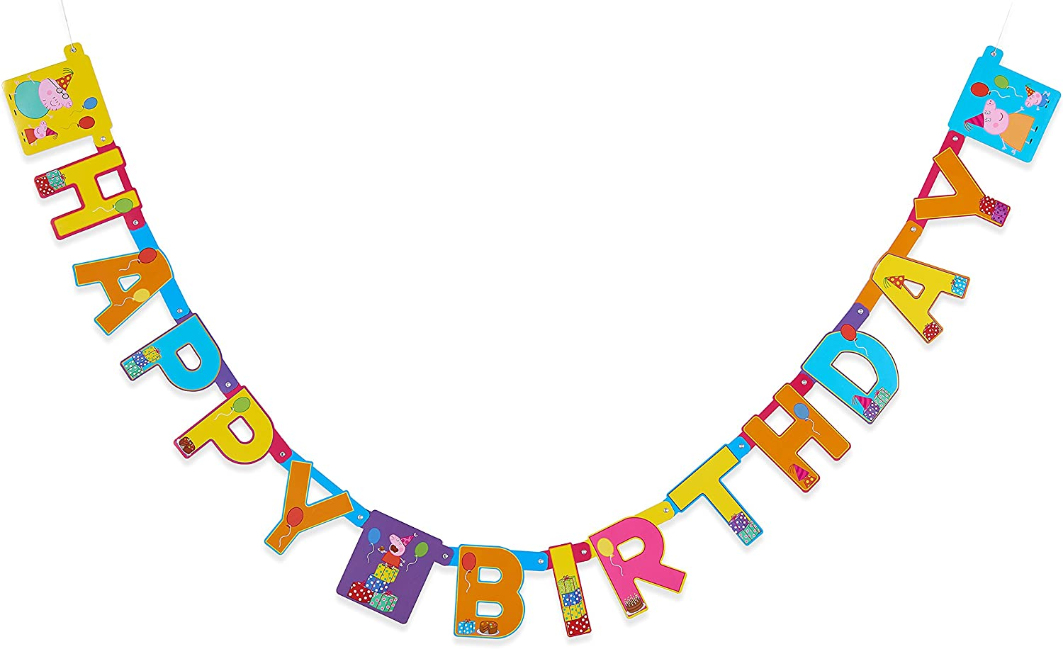 American Greetings 5753847 Peppa Pig Birthday Party Banner, 1-Count