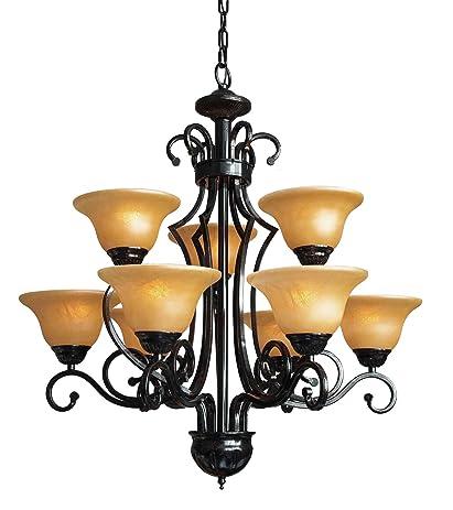 wrought iron chandelier lighting chandeliers h30 w28 9 lights