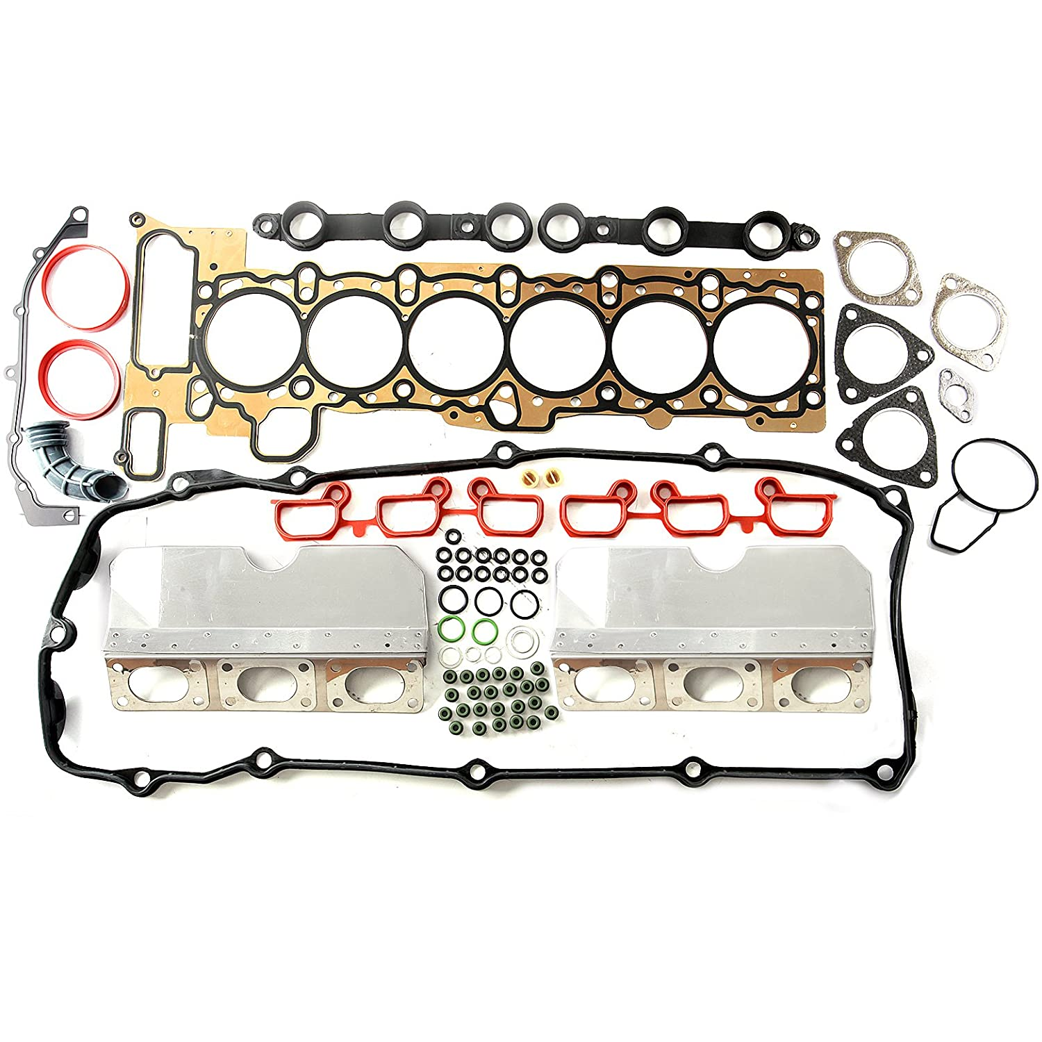 SCITOO Head Gasket Sets, fit BMW Z3 Z4 X 3 X5 325 330i 525 530i 2.5 3.0L M54 256S4 2001-2006 Engine Head Gaskets Automotive Replacement Gasket Sets