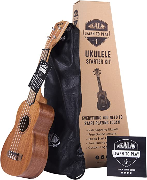 Official Kala Learn to Play Ukulele Soprano Starter Kit