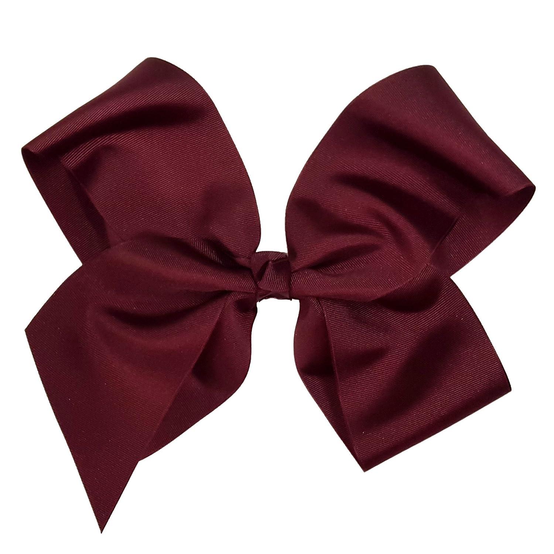 "Girls Hair Bow 4/"" Wide Texas A/&M Aggies Burgundy Ribbon Logo French Barrette"