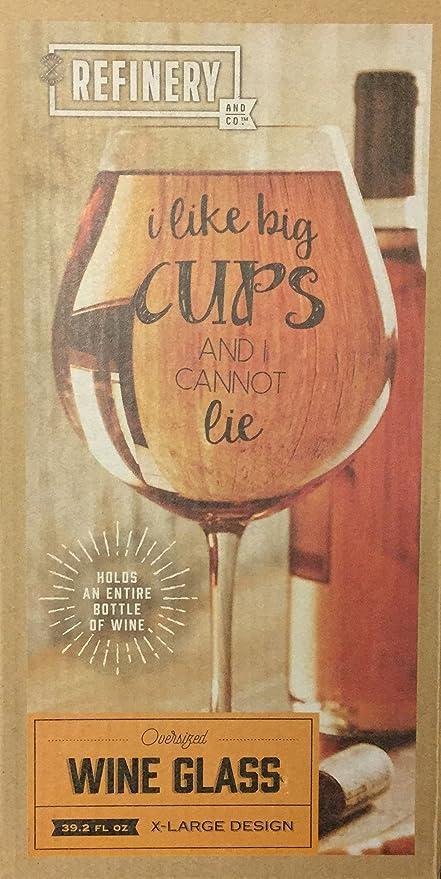 Jumbo Copa de vino 39.2oz: Amazon.es: Hogar