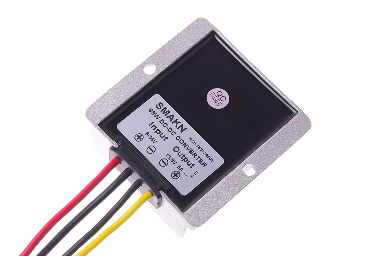 Smakn Waterproof Dc Boost Buck Module 6v 12v 24v Tda2003 To Voltage Converter 36v 6 138v 5a 69w Power Home Audio Theater