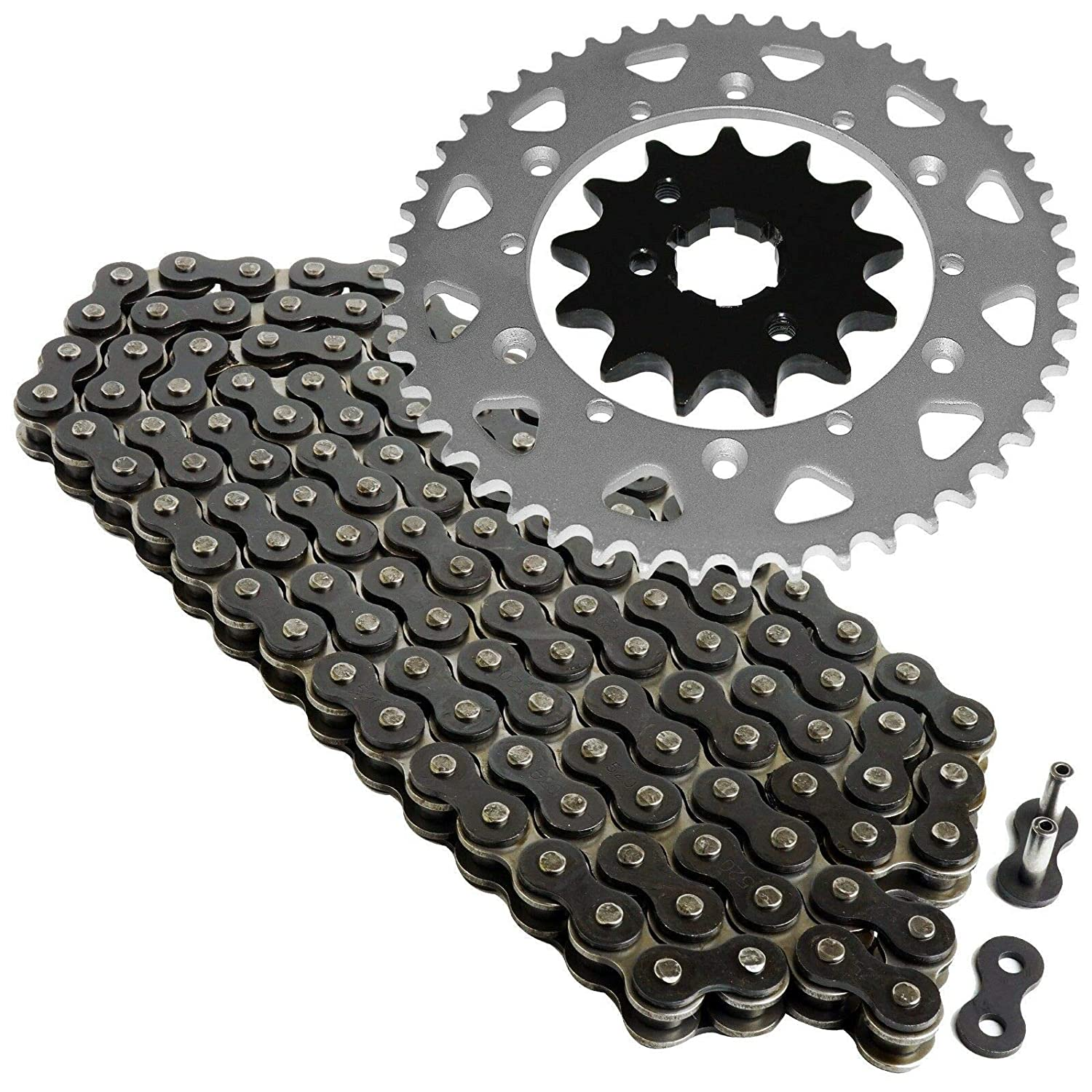 Caltric Black Drive Chain And Sprockets Kit for Yamaha Warrior 350 Yfm350X 1989-2004