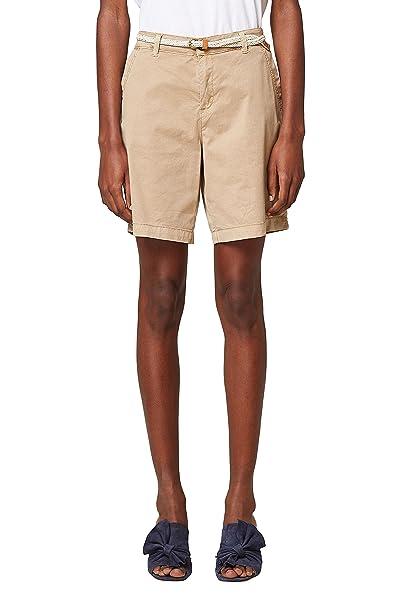 Esprit 038ee1c002, Pantalones Cortos para Mujer, Beige (Skin Beige 280), 38 (Talla del fabricante: 36)