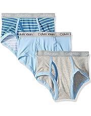 Calvin Klein Boys' Kids Modern Cotton Assorted Briefs Underwear, Multipack - Multi