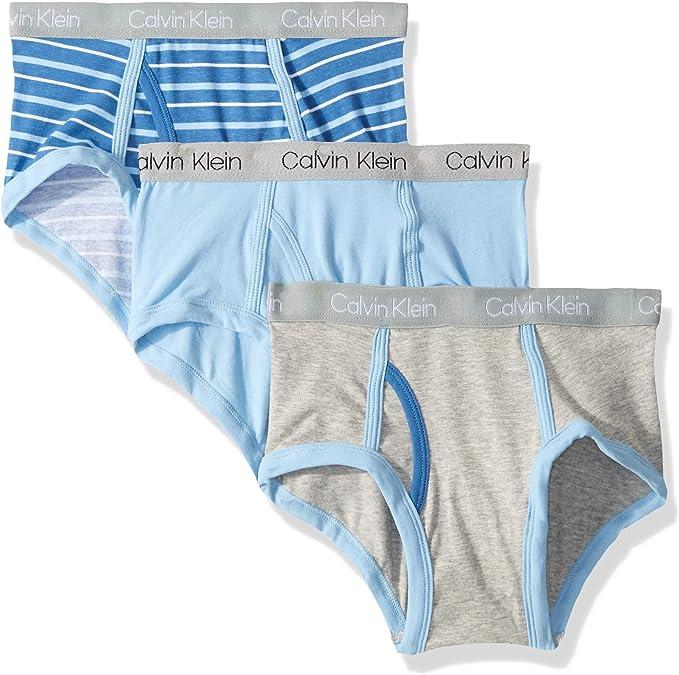 Boys Wide Stripe Briefs Cotton Short Underwear Pack of 5