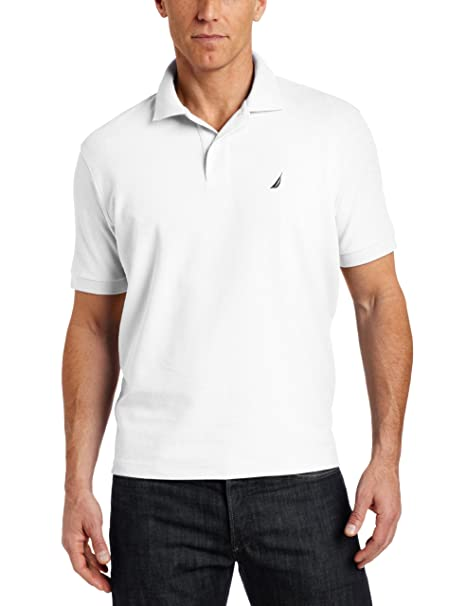 Nautica Mens Big & Tall Solid Deck Polo Shirt, Bright White, 3XLT ...