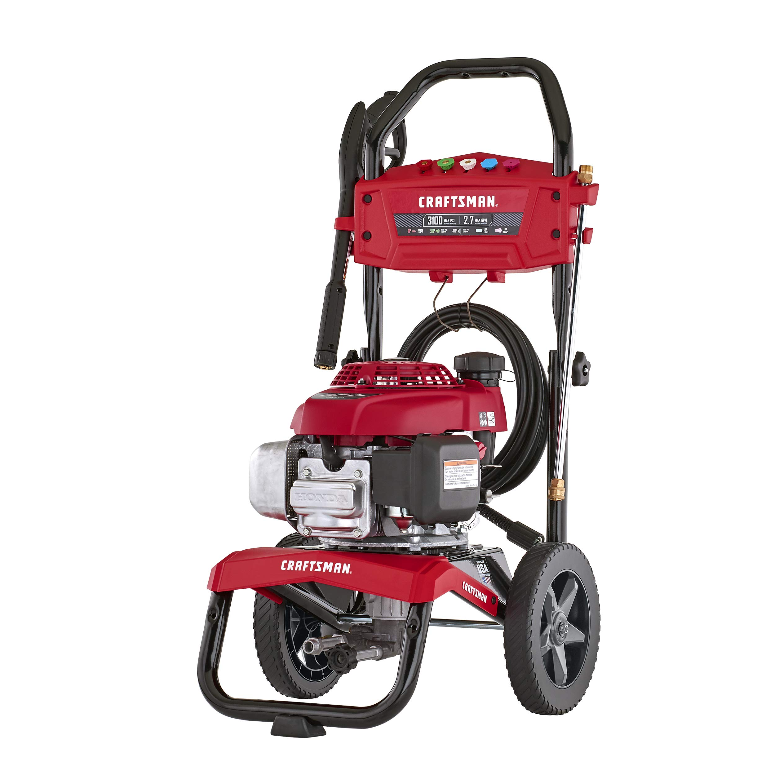 CRAFTSMAN CMXGWAS021023 3100 MAX PSI 2.7 MAX GPM Gas Pressure Washer Powered by Honda 187cc Engine, Made in USA with Global Materials by Craftsman
