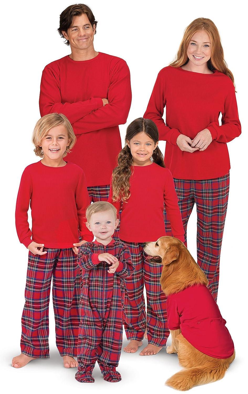 PajamaGram Red Flannel Stewart Plaid Matching Family Christmas Pajama Set The Pajamagram Company GFS010337
